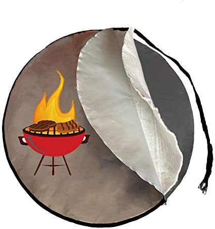 40 Inch Fire Pit Mat 3 Layer Fireproof Mat Protect Deck Patio Lawn Campsite for Outdoor Chiminea product image