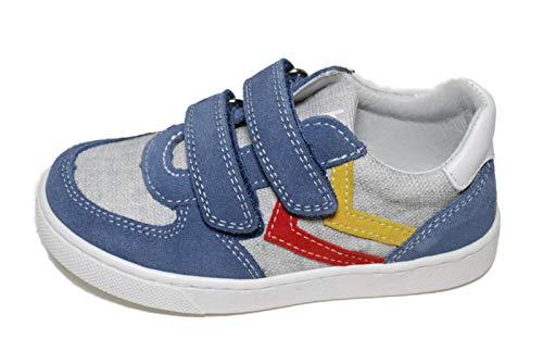 Balocchi Urban Sneaker Bambino Collezione Moda Velcro (Jeans, 24)