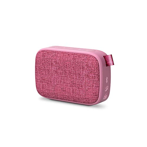 Energy Sistem Fabric Box 1+ Pocket Grape Altavoz portátil con Bluetooth (TWS, Bluetooth v5.0, 3W, USB&microSD MP3 Player, FM Radio) Rosa
