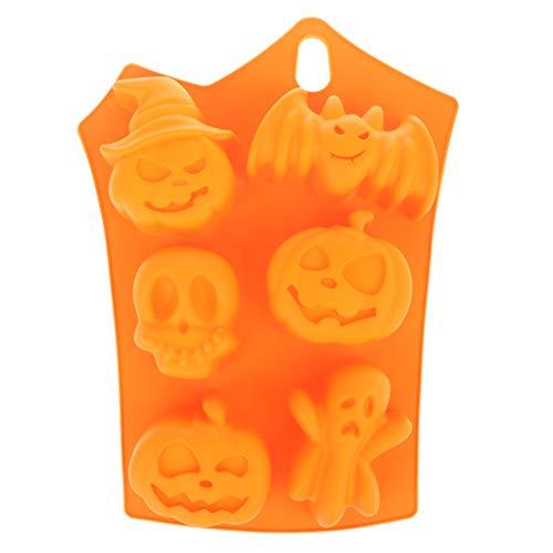 Kofun Bakvorm Halloween DIY Pompoen Silicium Bakvorm Cake Cookie Jelly Keuken Gebak Gereedschap Oranje