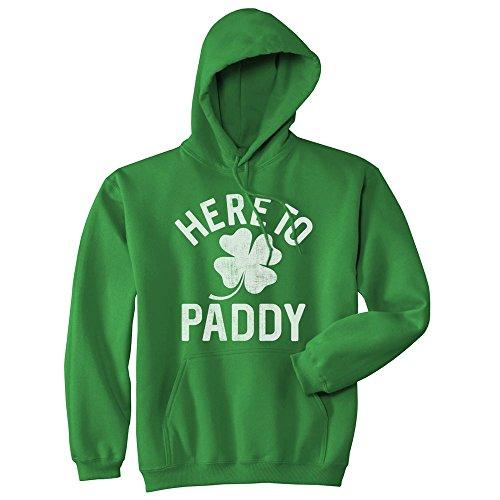 Unisex Hoodie Here to Paddy Sweatshirt Funny St Saint Patricks Day Clover Shirt (Green) - XXL