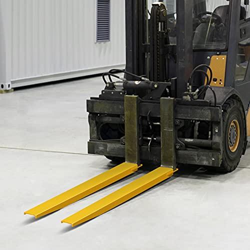 Mophorn Palettengabelverlängerungen 72Zoll x 4,5Zoll Stahlpalettengabel Gabelstapler Palettengabelverlängerungen für Gabelstapler 1,8m (72 1,8m)