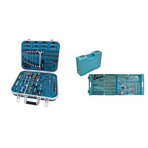 Makita P-90532 Werkzeug-Set 227-teilig 8 x 160 mm & P-44046 Bohrer-/Bit-Set 216-tlg