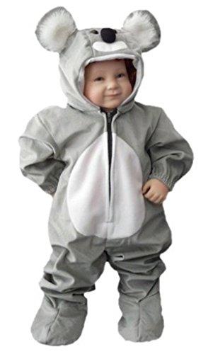 Koala-Bär Kostüm, J42 Gr. 86-92, für Klein-Kinder, Babies, Koala-Kostüme Koalas Kinder-Kostüme Fasching Karneval, Kinder-Karnevalskostüme, Kinder-Faschingskostüme, Geburtstags-Geschenk