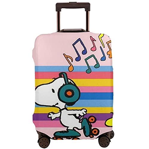 Funda protectora para maleta de Snoopy de dibujos animados, lavable, diseño de impresión 3D, 4 tamaños para la mayoría de equipaje con cremallera