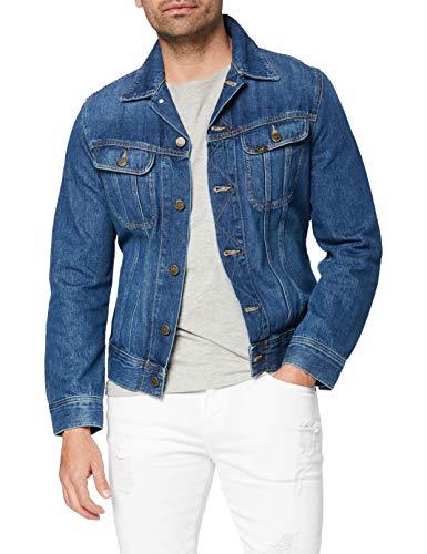 Lee Slim Rider Denim Jacket, Blu (Flick Dark KA), Medium Uomo