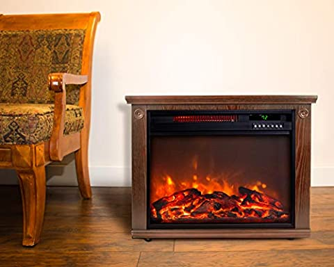 Life Smart Quartz Fireplace Space Heater