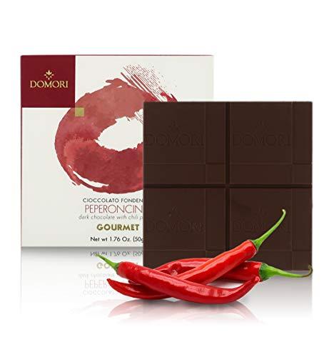 Domori Tavoletta di Cioccolato Fondente con Peperoncino, Linea Gourmet, 50 Grammi