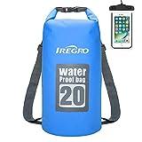 IREGRO Trockentasche Trockenbeutel Dry Bag Wasserdichter Brustbeutel Dokumententasche Handyhülle Wasserdichter Sack Packsack (B20L)