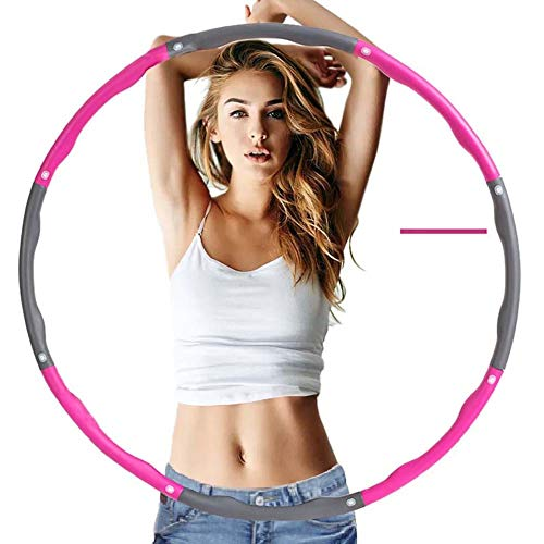 SZKP Fitnessreifen Hula Hoop Reifen Damen Herren Kinder Gymnastikreifen Mit Schaumstoff Für Abnehmen, Fitness, Gewichtverlust (Color : Pink)