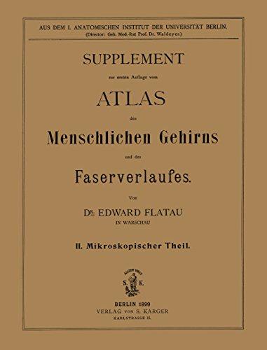 Atlas des menschlichen Gehirns und des Faserverlaufes: Supplement: II. Mikroskopischer Theil