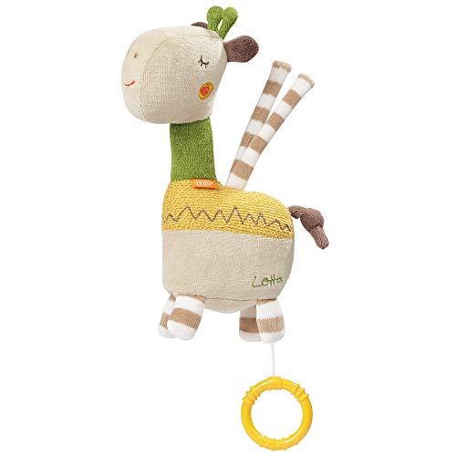 Fehn 059083 Mini-Spieluhr Giraffe Lotta – Kuschelige Spieluhr mit herausnehmbarem Spielwerk – Mit Befestigung – Für Babys ab 0 Monaten – Größe: 20 cm