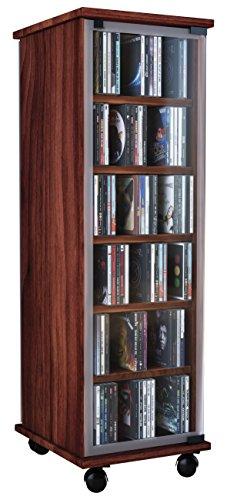 VCM Valenza-Torre para CD/DVD, para 300 CDs, Color Vetas de Nogal 🔥