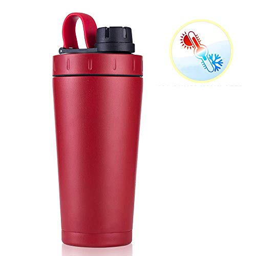 ZJZ Protein Shaker 700ml, Fitness Sportbeker, RVS Grote Vaatwasser Veilig Gratis Lek Proof Mixing Shaker Cup Draagbare Loop Voor Sport Fitness Voeding