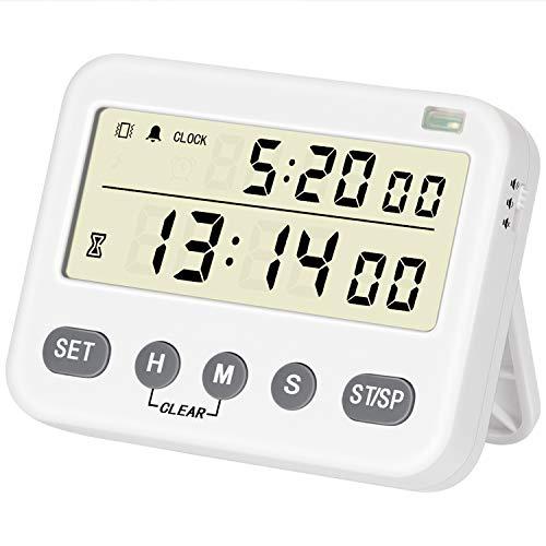 BizeoRade Timer mit Stummschaltung, Digitaler Küchentimer können Countdown Vibrierende Erinnerung ideal zum Kochen Backen Sport studieren usw