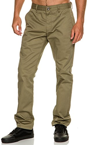 RVCA Men's The Weekend Chino Pant, Dusky Green, 30