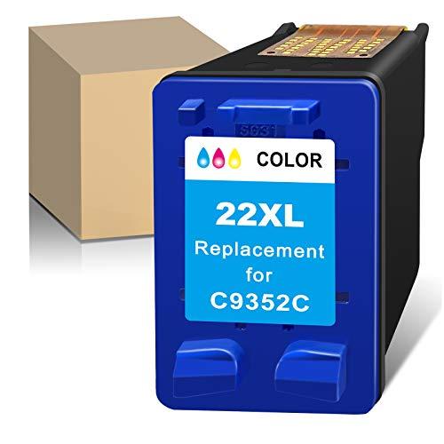 ATOPolyjet Remanufactured 22 XL para HP 22XL para HP Deskjet 3910 3920 3930 PSC 1401 1402 1403 1406 OfficeJet 4315 5600 5610 FAX 1250 3180 (1 Tri-Color)