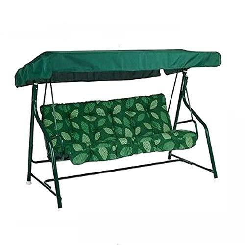 """DHTOMC Baldachin Schaukeln 84 """"x48"""" X7.1 Gartenschaukel Stuhl Canopy Ersatz Patio Abdeckung wasserdichter Ersatz Grün für Garden Patio Outdoor Seater (Color : Green, Size : One Size)"""
