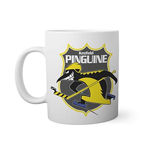 Ice Hockey Team Krefeld Pinguine Eishockey Weißer Becher Mug 330ml