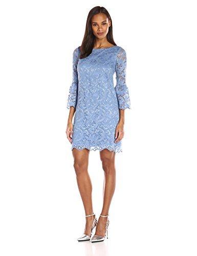 Eliza J Women's Bell Sleeve Shift Dress, Blue, 12