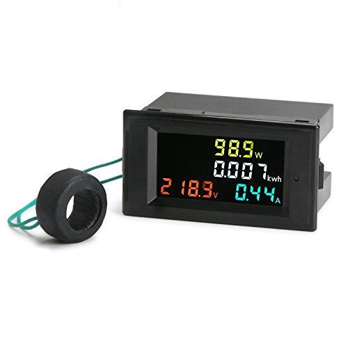Droking AC 80-300V Digitalanzeigen-Multimeter, 100A Voltmeter Amperemeter-aktive Energie-Meter hochauflösender bunter LCD-Volt-Ampere-AP Energie-Prüfvorrichtung Spannung Monitor mit CT