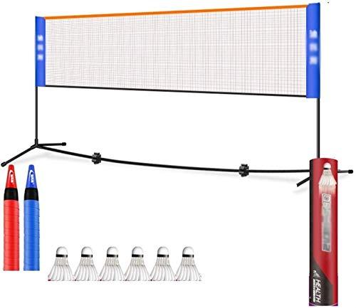Abcoll Badminton Net Set, Tennis Volleyball Net Badminton Net-Rack Easy Setup Sports Net Badminton Ausbildung Mesh-Tragbarer Standard for Innen- Oder Außen Court Beach Auffahrt (Größe : 4.2M)