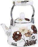 ViewSys Tetera, Juegos de té Tea Pots esmaltada Tetera teteras Tetera Ollas Esmalte de Gas Cocina de inducción Caldera de Gas Inicio Caldera Caliente de Gran Capacidad Recipiente de Acero Mango de la