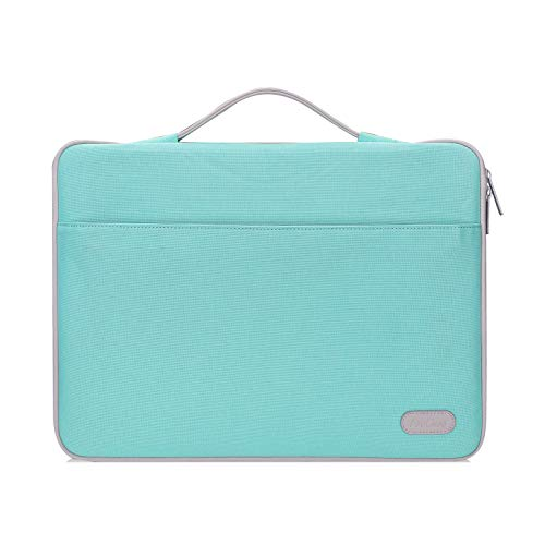 ProCase 14-15.6 Inch Laptop Sleeve Case Bag for 2019 MacBook Pro 16, Carrying BriefCase Handbag for 14' 15' 15.6' Samsung Sony ASUS Acer Lenovo Dell XPS HP Toshiba Chromebook -Mint Green