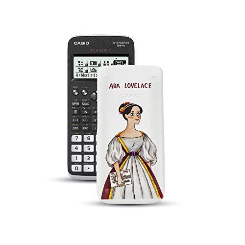 Casio FX-570SPXII Iberia - Calculadora científica con ilustración de Ada Lovelace en la tapa, (576 funciones, 12 dígitos), color negro y blanco