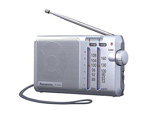 Panasonic RF-U160DEG-S - Radio portátil (Compacta, Con Sintonizador Digital, 370mW, FM/AM, LED/Digital, AFC, DC-IN,Puntero Fosforescente, Diseño Fácil, Con Correa Para Transportar)- Color Plata