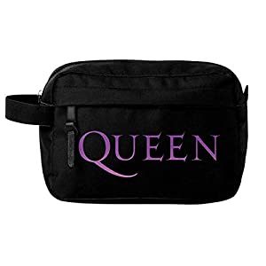 Queen Wash Bag Classic Crest Band Logo Official Black