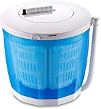 XXXVV 2020 Latest Mini Portable Washing Machine for Compact Laundry, Small Semi-Automatic Compact Washer with Timer Control Single Translucent Tub,Blue