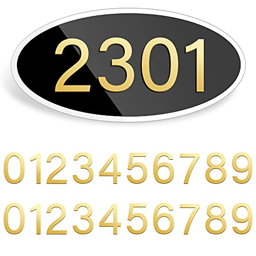 Address Plaque Personalized,House Address Plaques Address Signs for House Plaques Display Your Address Street Name Signs, Acrylic House Mailbox Garden Decorative Wall Plaque (Ellipse Shape)