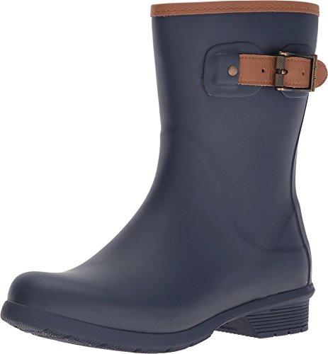 Chooka Women's Mid-Height Memory Foam Rain Boot, Navy, 7 M US