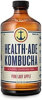 Health-Ade Kombucha, Pink Lady Apple, 16 Ounce (Pack of 12)