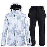 FHJGYU Combinaison de Ski Vestes et Pantalons de Ski Blancs pour Les Hommes,...