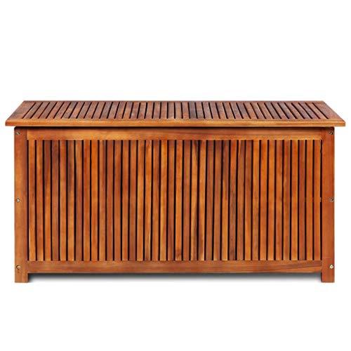 *Festnight – Garten Aufbewahrungsbox Auflagenbox mit Stauraum Massives Akazienholz*
