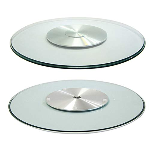 Glass Large Lazy Susan with Rotating base, Turn Table, Kitchen Dinner Turntable Tray,Heavy Duty 350 lb Capacity,Smooth, Silent