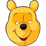 Star Cutouts Ltd SM51 Official Disney 1 X Cardboard Winnie the Pooh Party Full Face and Fancy Dress Mask Includes Tabs and Elastic