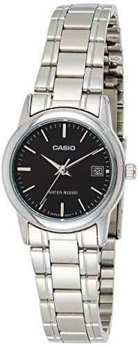 Casio Reloj con Movimiento Cuarzo japonés Ltp+V002D.1A Plateado 35 mm