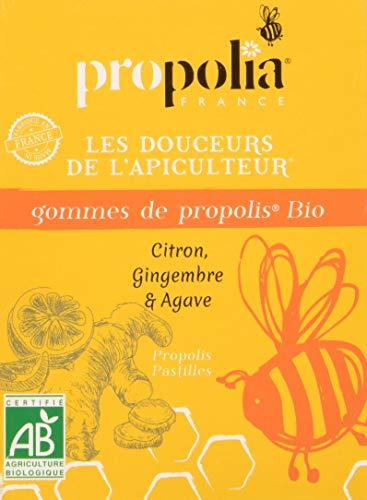 GOMMES DE PROPOLIS BIO - PROPOLIA - Citron - Gingembre - Agave - sachet de 45g - MADE IN FRANCE