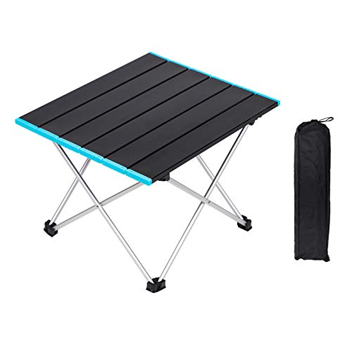 Folding Camping Table, Ultralight Aluminum Alloy Roll Up Table with Storage Bag, 3 Size S M L Fold Up Table Outdoor Dining Table For Garden Patio Picnic, BBQ, Beach, Fishing (Small)