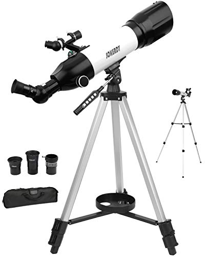 SOKERDY 70mm Telescope Astronomy Refractor with Tripod for Kids Beginners Adults, Gift for Observing Moon Landscape,Fully Multi-Coated Optics, Replaceable eyepieces,with Triple Zoom Lens.