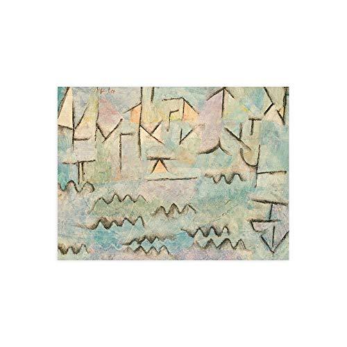 DìMò ART Druck auf Papier (Poster) Paul Klee The Rhine at Duisburg messen 40x30 cm (15,75x11,81 inches)