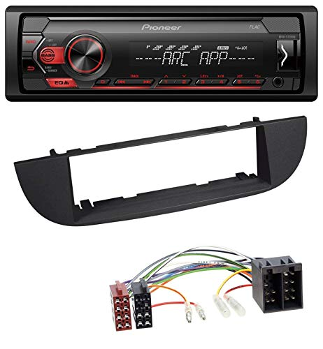 caraudio24 Pioneer MVH-S100UB USB AUX MP3 1DIN Autoradio für FIAT 500 (ab 2007) - schwarz