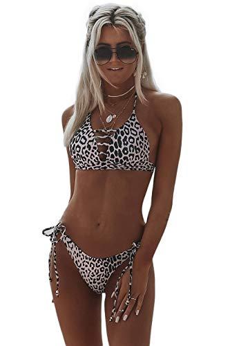 Gato serpiente Mujeres Calientes Bikini Sexy Conjunto Hueco Leopardo Traje De Baño Traje De Baño Traje De Baño