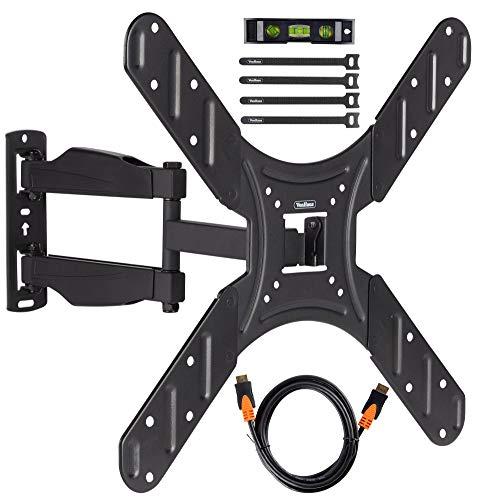 VonHaus 17-56 Zoll TV-Wandhalterung - Kipp- und Schwenkhalterung für VESA-Kompatible Bildschirme, 25kg Gewicht
