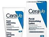 CeraVe Loción humectante facial PM, 52 ml / 1.75 oz, humectante facial diario con niacinamida para piel normal a seca
