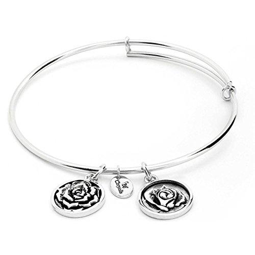 Chrysalis Armreif Rose (Juni) Silber