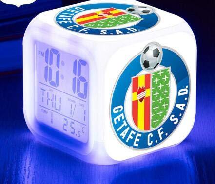 FDGFDG Logo Fußball Fußball Luminous League Sport LED Wecker Wecker 7 Farbblitz Digitaluhr